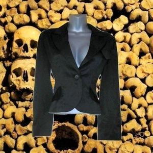 1970s vintage black satin tuxedo jacket size small